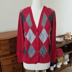 St.Johns Bay Red Cardigan Sweater